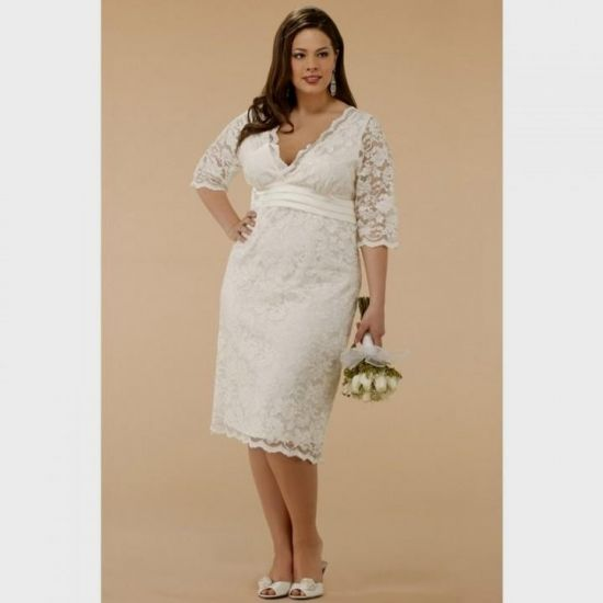plus size beach wedding dresses with sleeves 20162017