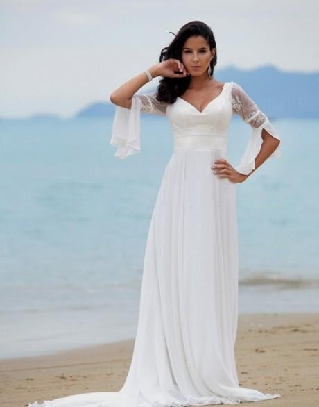 04dfc1d347 You can share these plus size beach wedding dresses with sleeves on  Facebook, Stumble Upon, My Space, Linked In, Google Plus, Twitter and on  all social ...