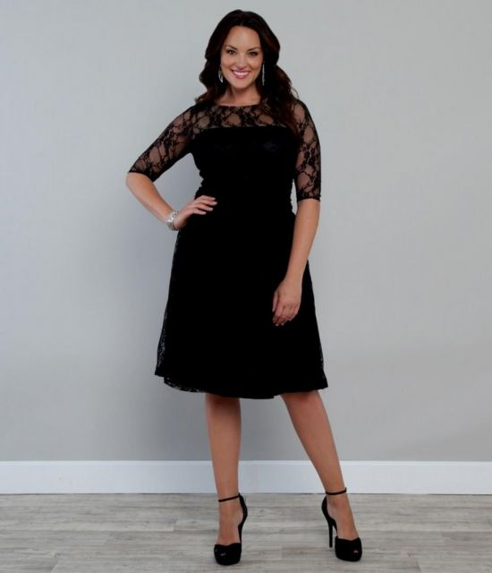 Plus Size Black And White Dress Ibovnathandedecker