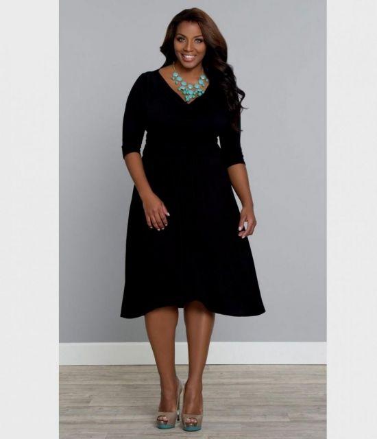 Plus size black bodycon dress – Dress best style blog