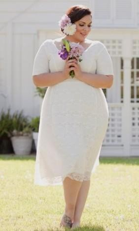 Casual White Lace Dress Plus Size - Dress Foto and Picture