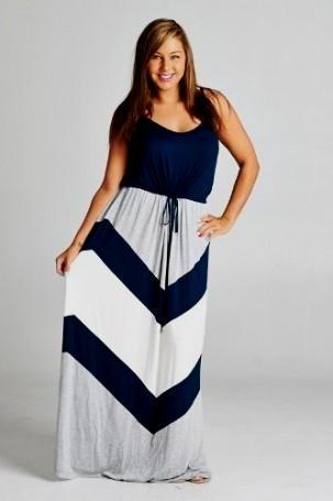 Size Chevron Maxi Dress
