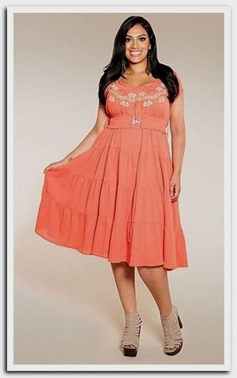 Plus Size Coral Summer Dresses 2016 2017 B2b Fashion