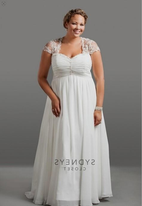 Flattering wedding dress for plus size