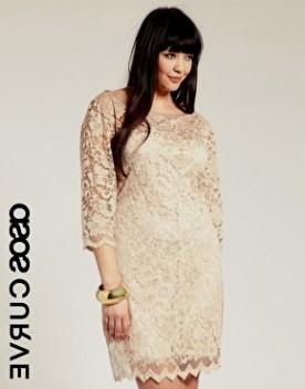 Cream plus size cocktail dresses