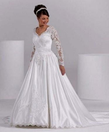 Plus size empire waist wedding dresses with sleeves 2016 for Empire waist plus size wedding dress
