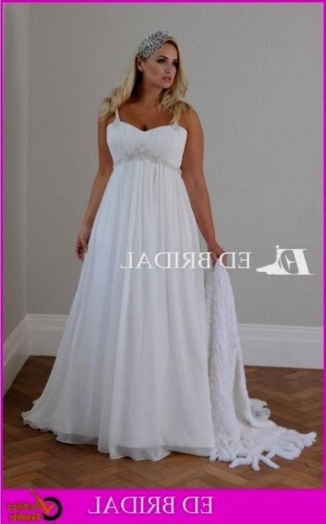 Plus Size Wedding Dresses With Empire Waist : Plus size empire waist wedding dresses with sleeves b