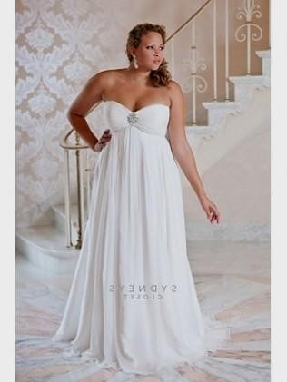 Plus Size Empire Waist Wedding Dresses With Sleeves 2016 2017 B2b
