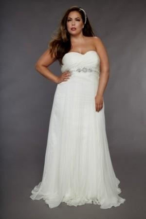 Plus Size Empire Waist Wedding Dresses With Sleeves Looks