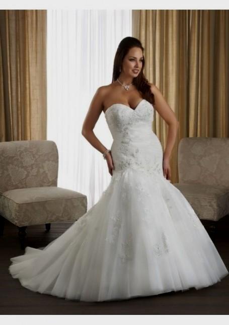 plus size fit and flare wedding dresses looks | B2B Fashion