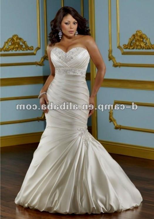 plus size fit and flare wedding dresses looks   B2B Fashion