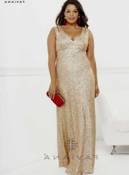 Plus size gold sequin dress 2016-2017 » B2B Fashion