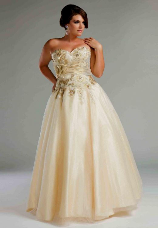 You Can Share These Plus Size Gold Wedding Dresses On Facebook Stumble Upon My E Linked In Google Twitter And All Social Networking Sites