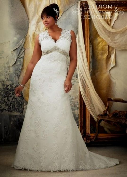 Plus Size Lace Fit And Flare Wedding Dress 2016 2017