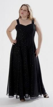 Plus size long black bridesmaid dresses