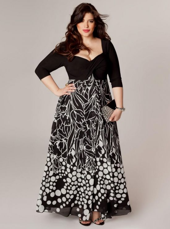 6dd653d4081a9 Dresses With Sleeves Plus Size Images - simple trendy dress designs