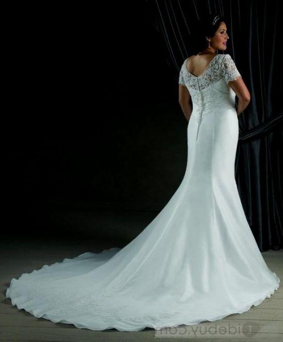 Plus Size Gothic Wedding Dresses 2016 2017: Plus Size Mermaid Wedding Dresses With Sleeves 2016-2017