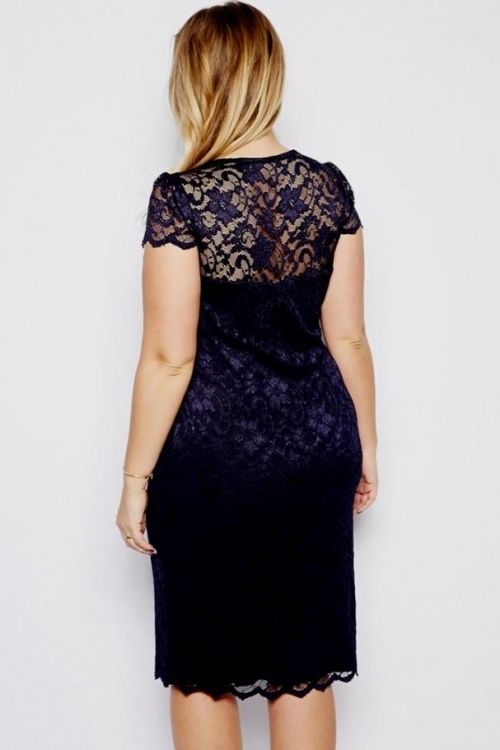 d908edf2d9b You can share these plus size navy blue lace dress on Facebook