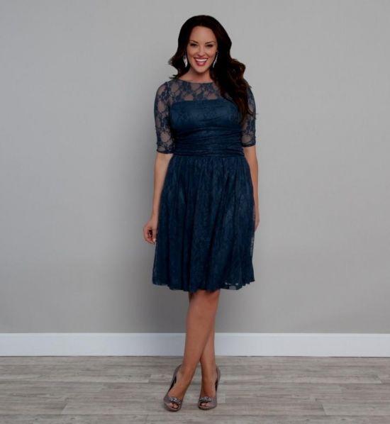 plus size navy blue lace dress 2016-2017 | B2B Fashion