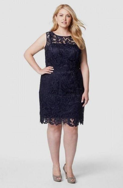Plus Size Navy Lace Dress – Fashion dresses