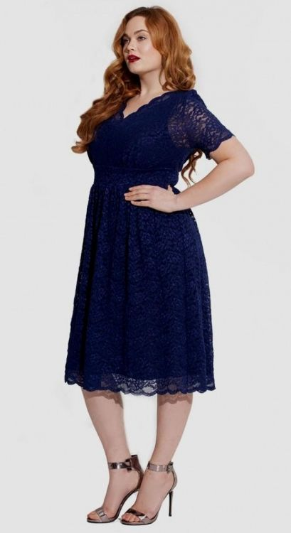 Plus Size Navy Blue Lace Dress Looks B2b Fashion