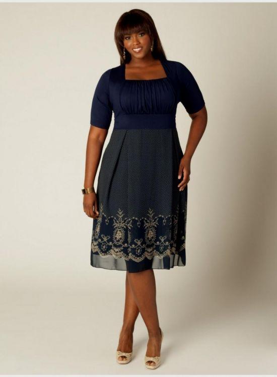 Plus Size Navy Blue Lace Dress 2016 2017 B2b Fashion