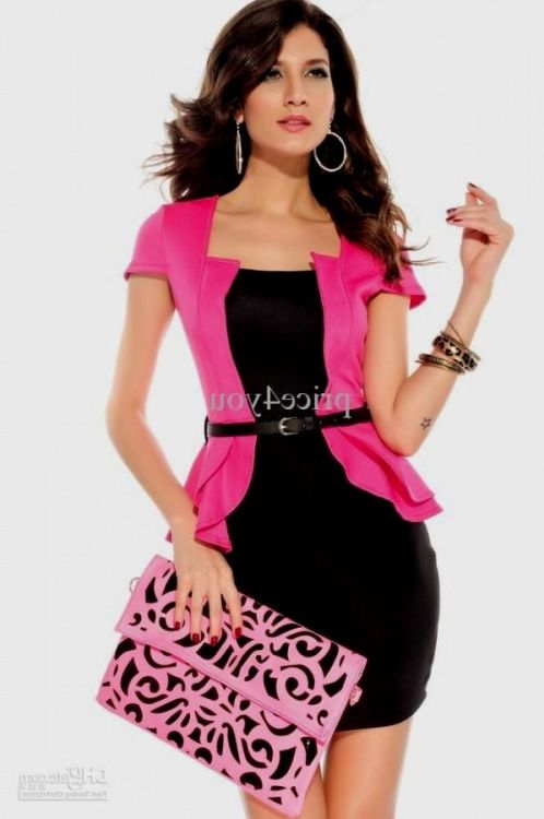 plus size pink peplum dress looks | B2B Fashion