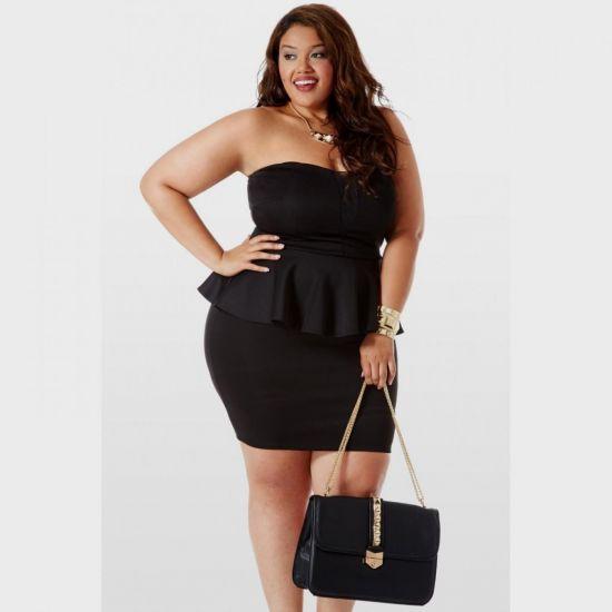 Plus Size Pink Peplum Dress 2016 2017 B2b Fashion