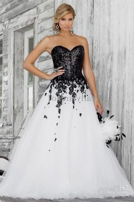 Plus size formal dresses black and white