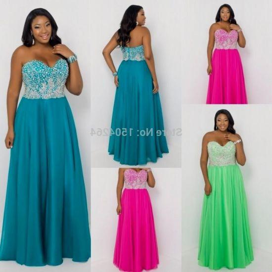 Turquise Plus Size Prom Dresses