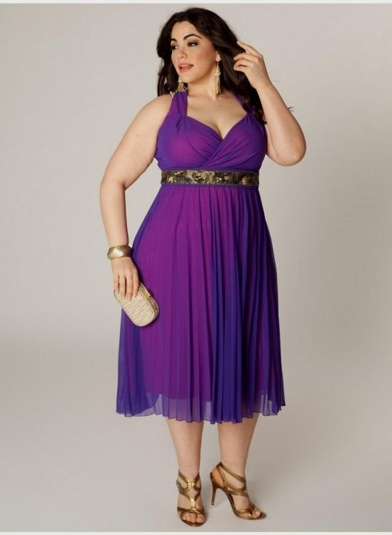 Purple Plus Size Party Dresses