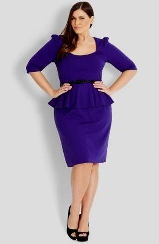 Plus Size Purple Peplum Dress 2016 2017 B2b Fashion
