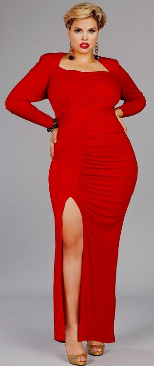 plus size red evening gowns looks | B2B Fashion