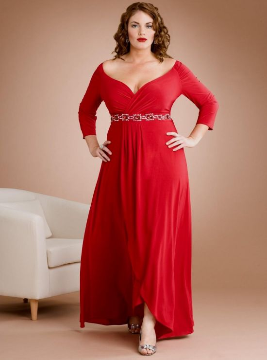 Plus Size Red Evening Gowns Looks B2b Fashion