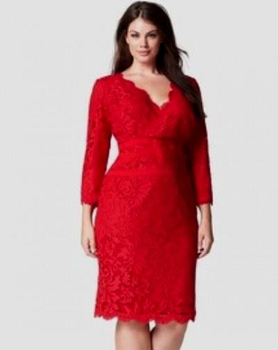 Red dress cocktail plus size