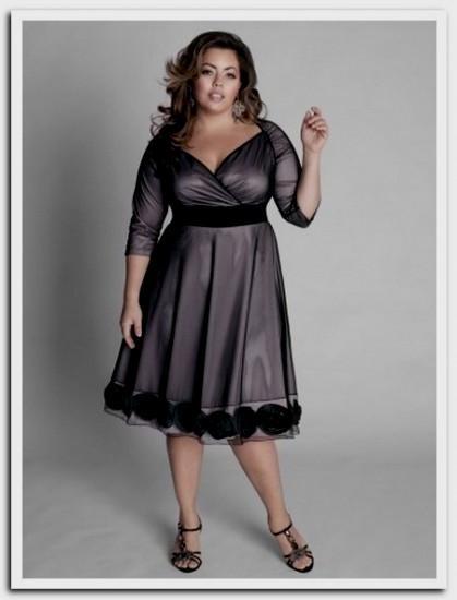 plus size semi formal dresses with sleeves looks | B2B Fashion