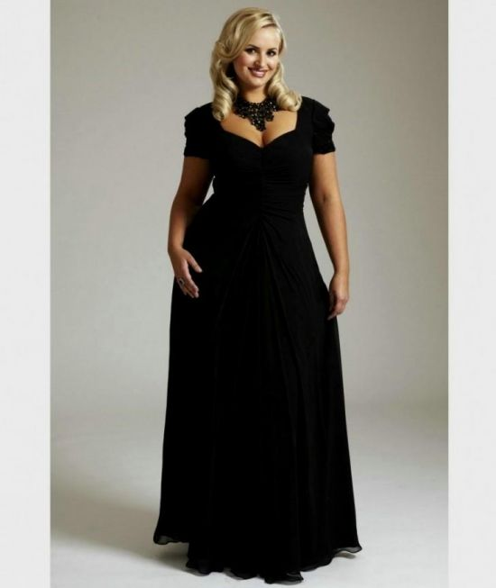 plus size short black bridesmaid dresses looks | B2B Fashion