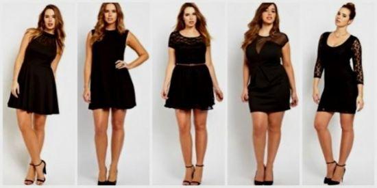 plus size short black dresses 2016-2017   B2B Fashion