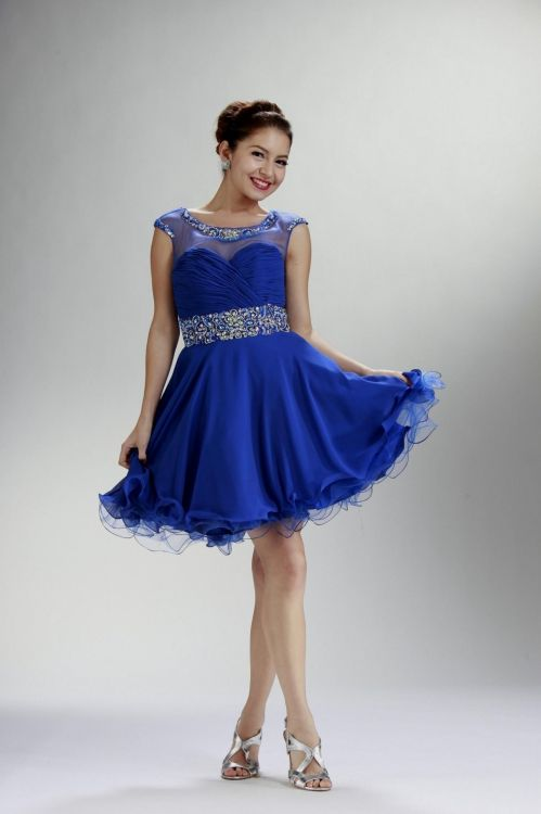 Plus Size Short Blue Prom Dresses