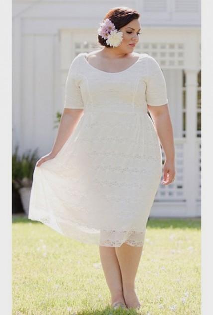 Plus Size Short Wedding Dresses 2017 Junoir Bridesmaid Dresses