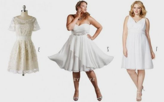 Plus Size Short White Dresses 2016 2017 B2b Fashion