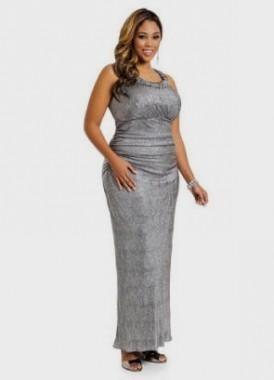 Silver evening dresses plus size