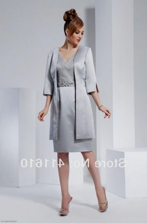 Mother Of The Bride Dresses Plus Size Silver - Short Hair Fashions