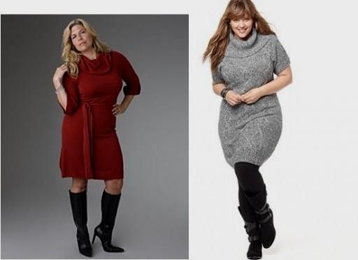 plus size sweater dress with boots 2016-2017 | b2b fashion