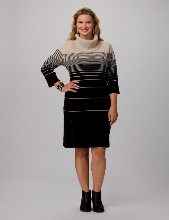 plus size sweater dress with boots 2016-2017