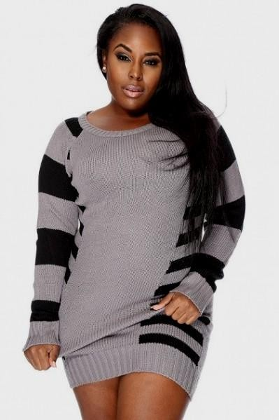 Plus Size Sweater Dress With Boots 2016 2017 B2b Fashion