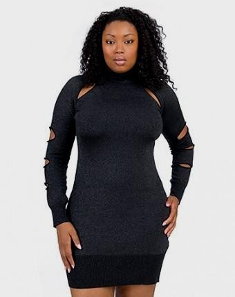 Flattering sweater dresses for plus size women