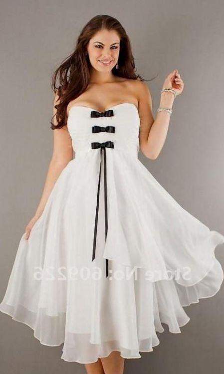 plus size tea length wedding dresses with sleeves looks ...
