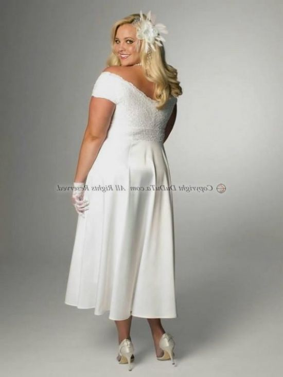 plus size tea length wedding dresses with sleeves 2016-2017 | B2B ...