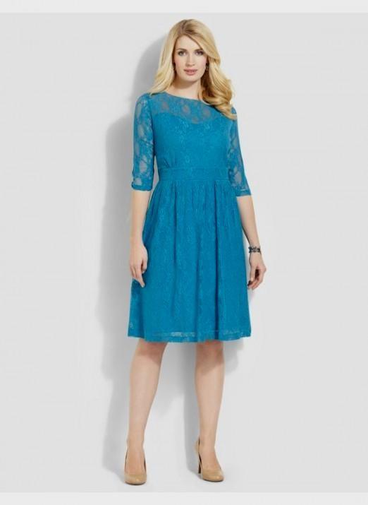 Plus Size Teal Lace Dress Looks B2b Fashion